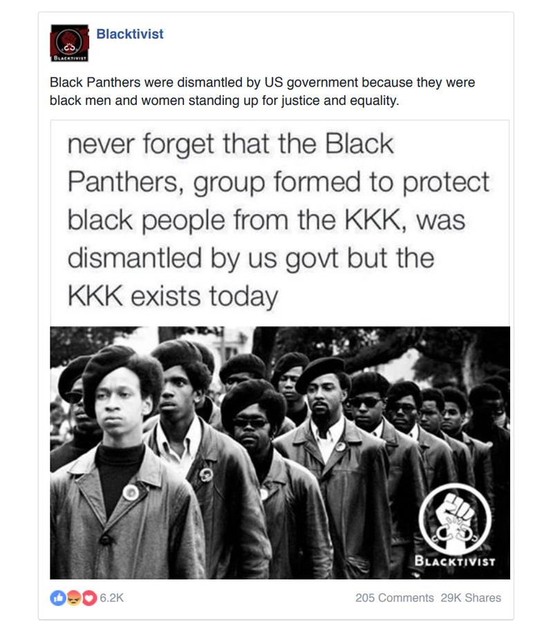 RT propaganda blacktivist